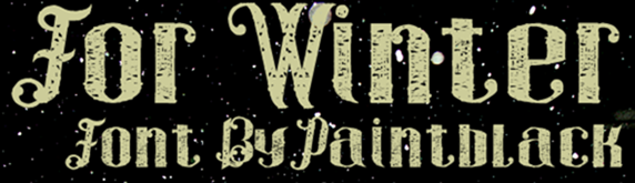 For-Winter-font-by-paintblack-ditions-FontSpace